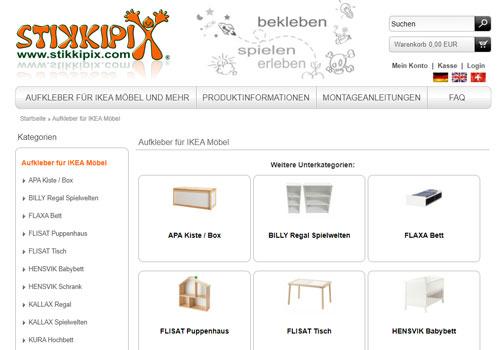 Aufkleber für IKEA Möbel
